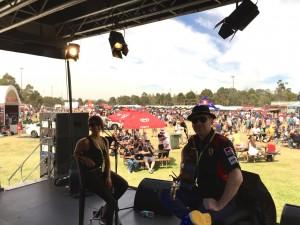 Michelle with 'Cedar Duo' at the Grand Prix